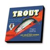 Lamp-In-A-Box Trout Fishing Vintage Advertisement Plaque