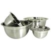 Prime Pacific Euro Style 4 Piece Stainless Steel Mixing Bowl Set