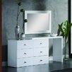Creative Furniture Scarlet 6 Drawer Dresser with Mirror