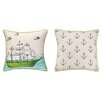 Sarah Watts Ocean Reversible Printed and Embroidered Throw Pillow