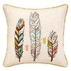 Sarah Watts 3 Feather Cotton Throw Pillow