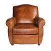 Melange Home Knight Bridge Leather Club Chair
