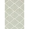 Bunny Williams for Dash and Albert Cleo Moss / Ivory Graphic Indoor / Outdoor Area Rug