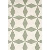 Bunny Williams for Dash and Albert Lucy Moss Green/Beige Graphic Indoor/Outdoor Area Rug