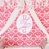 Little Crown Interiors Oval Wood Wall Monogram Hanging Initials