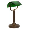 Kansa Lighting Banker's 37cm Table Lamp