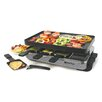 Swissmar 8 Person Eiger Raclette Party Grill with Reversible Cast Aluminum Non-Stick Grill Plate