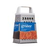 Kitchen Craft Four Sided Box Grater With plastic handle