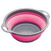 Kitchen Craft Colourworks Collapsible Colander in Pink