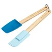 Kitchen Craft 2-Piece Miniamo Brights Spoon and Spatula Set