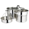Kitchen Craft Italian 4 Piece Pasta Pot with Strainer Inserts and Lid