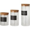 Kitchen Craft Natural Elements 3-Piece Storage Canister Set