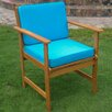 International Caravan Royal Tahiti Gulf Port Patio Chair with Cushion (Set of 2)