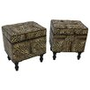 World Menagerie Mota Animal Print 3 Piece Trunk and Ottoman
