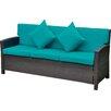 International Caravan Valencia Wicker Resin Sofa with Cushion