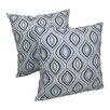 Blazing Needles Indian Ogee Hand-embroidered Cotton Throw Pillow (Set of 2)