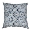 Blazing Needles Indian Palette Ogee Hand-embroidered Cotton Throw Pillow