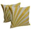 Blazing Needles Indian Sun Ray Cotton Throw Pillow (Set of 2)