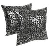Blazing Needles Paisley Scaled Throw Pillow (Set of 2)