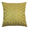 Blazing Needles Indian Diamond Mosaic Hand-embroidered Cotton Throw Pillow