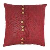 Blazing Needles Nine Button Throw Pillow