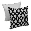 Blazing Needles 2 Piece Indian Trellis Cotton Throw Pillow Set (Set of 2)