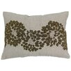 Blazing Needles Floral Pattern Chambrey Cotton Throw Pillow
