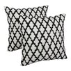 Blazing Needles Moroccan Patterned Cotton Throw Pillow (Set of 2)