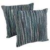 Blazing Needles Striped Throw Pillow (Set of 2)