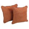Blazing Needles Microsuede Throw Pillow (Set of 2)