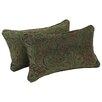 Blazing Needles Corded Floral Lumbar Pillow (Set of 2)