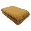 Cozy Fleece Santa Barbara Waffle Weave Cotton Blanket