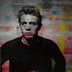 Parvez Taj James Dean Torn Sweater Graphic Art Wrapped on Canvas