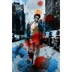 Parvez Taj James Dean NYC Graphic Art Wrapped on Canvas