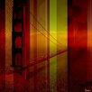 Parvez Taj Leinwandbild Golden Gate II, Grafikdruck