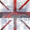 """Parvez Taj Leinwandbild """"London"""", Grafikdruck"""