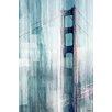 Parvez Taj Leinwandbild Golden Gate, Grafikdruck