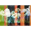 Parvez Taj Flamingo Park Graphic Art Wrapped on Canvas