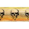 Parvez Taj Skull Graphic Art Wrapped on Canvas