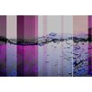 Parvez Taj Fuschia Water Bubbles Graphic Art Wrapped on Canvas