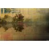 Parvez Taj Lake Tree Reflection Graphic Art Wrapped on Canvas
