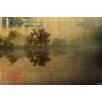 "Parvez Taj Leinwandbild ""Lake Tree Reflection"", Grafikdruck"