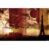 "Parvez Taj Leinwandbild ""Paris 3"", Grafikdruck"