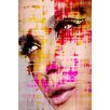 Parvez Taj Eyelashes Graphic Art Wrapped on Canvas