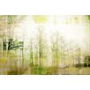 Parvez Taj Glowing Forest Graphic Art Wrapped on Canvas