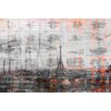 Parvez Taj Paris Skyline 3 Graphic Art Wrapped on Canvas