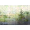 Parvez Taj Leinwandbild Green Lake Mist, Grafikdruck