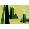 Parvez Taj Green Shadows Graphic Art Wrapped on Canvas