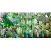 Parvez Taj Green Zebras Graphic Art Wrapped on Canvas