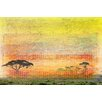 Parvez Taj Orange Plains Graphic Art Wrapped on Canvas